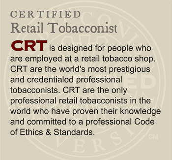 GET CERTIFIED: Certified Retail Tobacconist (CRT)
